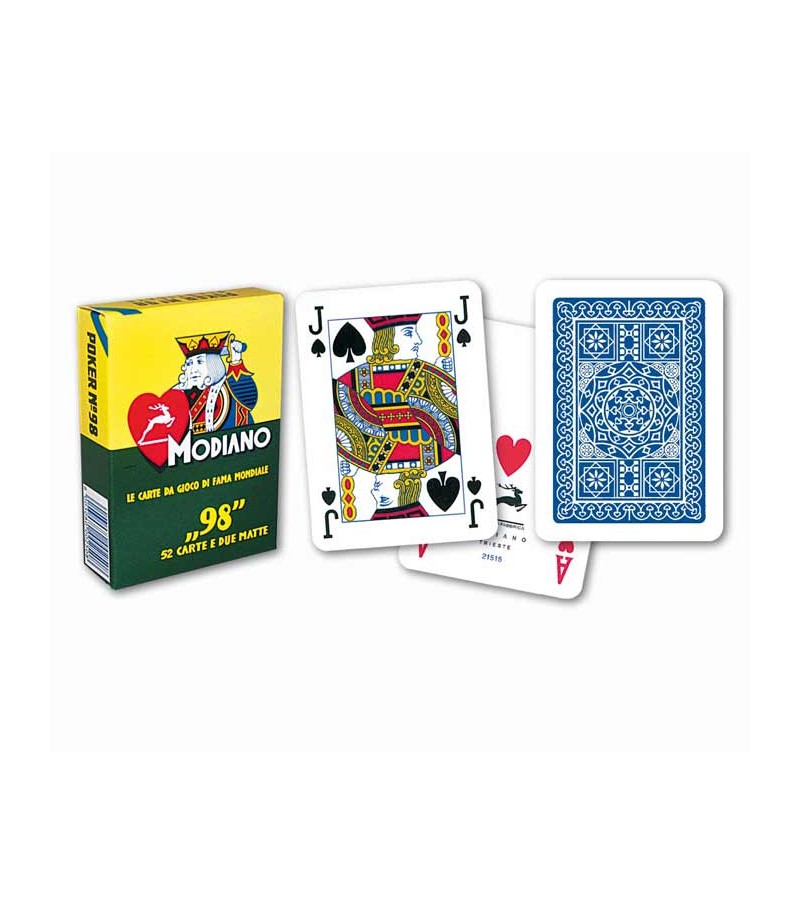 Playing card for poker. Blue