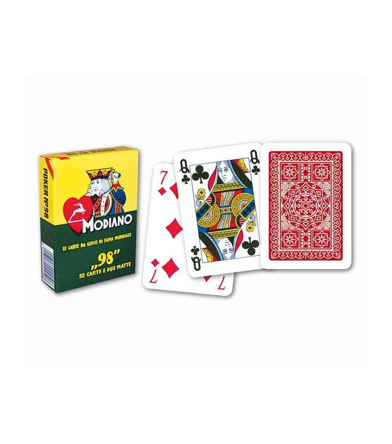 Playing card for poker. Red