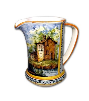 Hand-painted pottery Pitcher