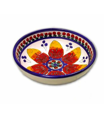 Hand-painted pottery bowl