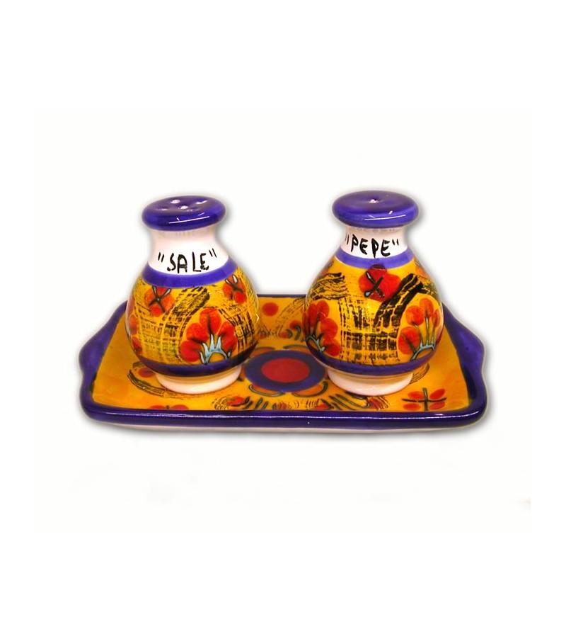 Sale/Pepe con Vassoio decoro Mimosa