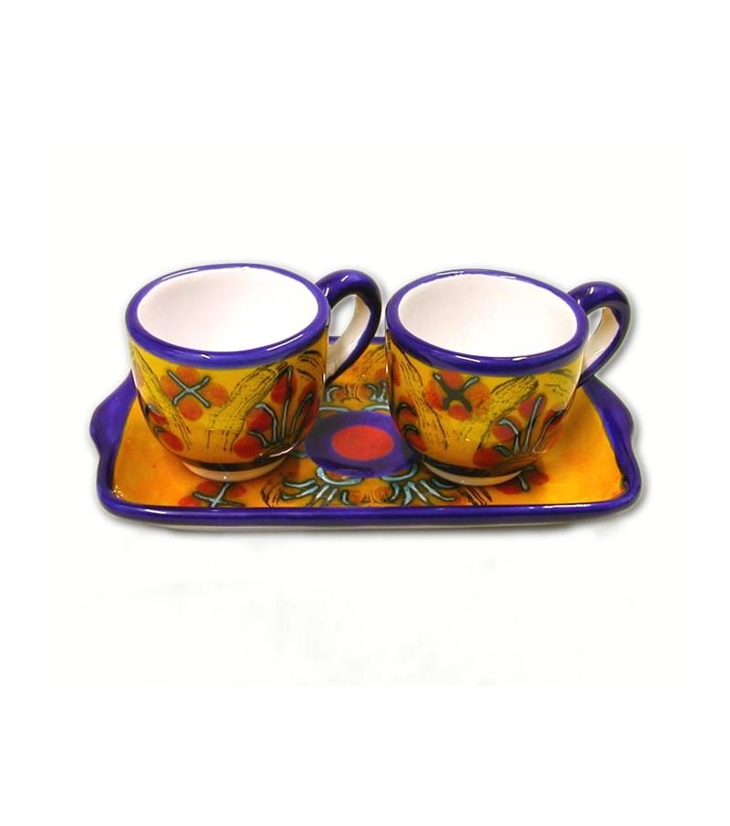 Servizio Caffe' 2 Persone decoro Mimosa