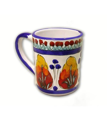 Hand-painted pottery cup