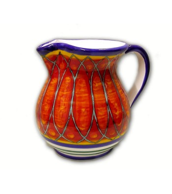 Hand-painted pottery jug