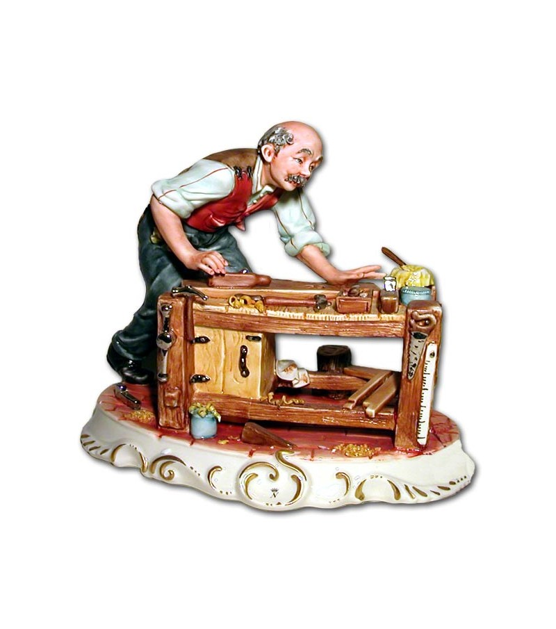 """Joiner"" in Capodimonte Porcelain"