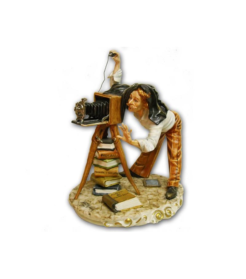 """Photographer"" in Capodimonte Porcelain"