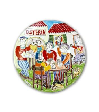 """Piatto in Ceramica raffigurante """"La Festa"""""""