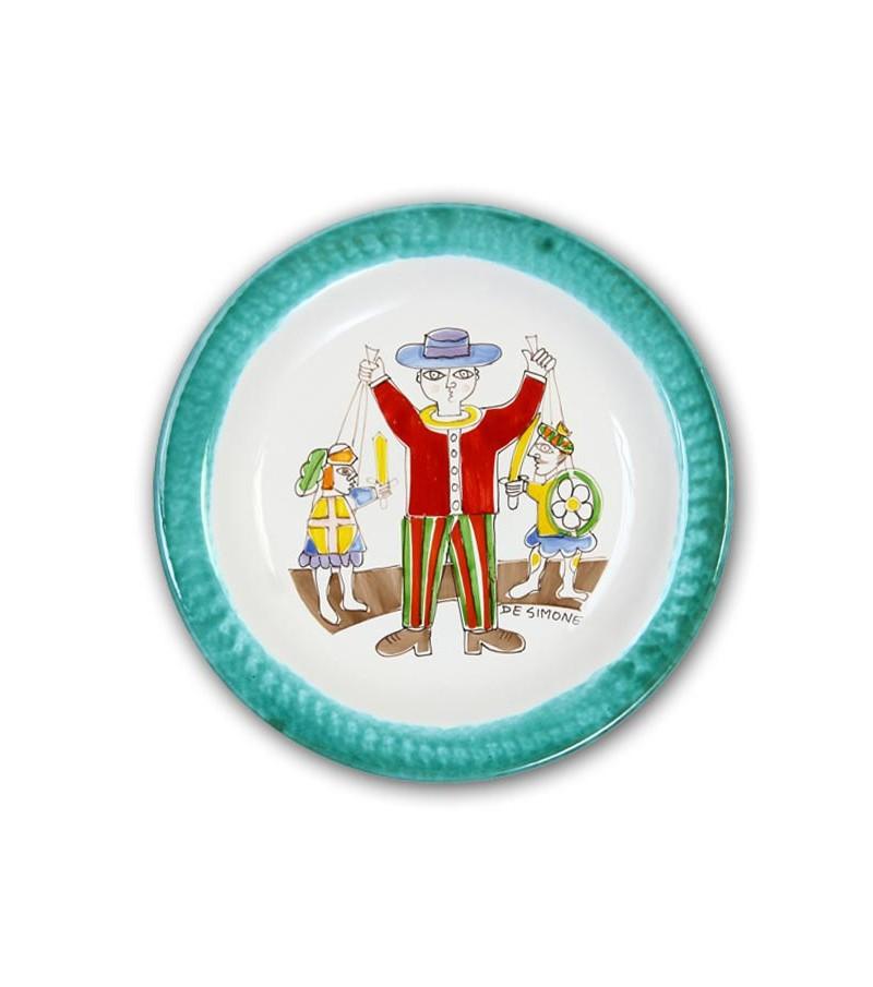 """Piatto in Ceramica raffigurante """"Il Burattinaio"""""""
