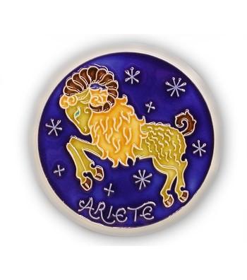 Segno Zodiacale Ariete su Piastrella di Ceramica