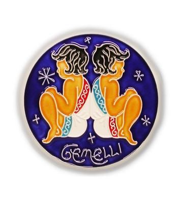 Gemini Zodiac Sign on Ceramic Tile