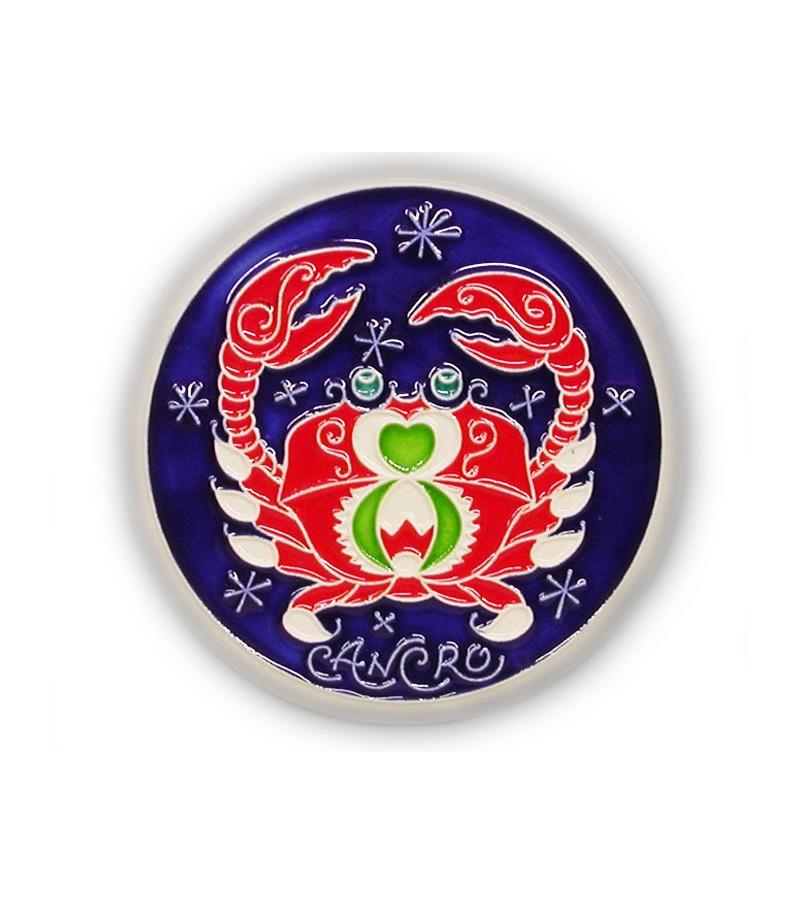 Segno Zodiacale Cancro su Piastrella di Ceramica