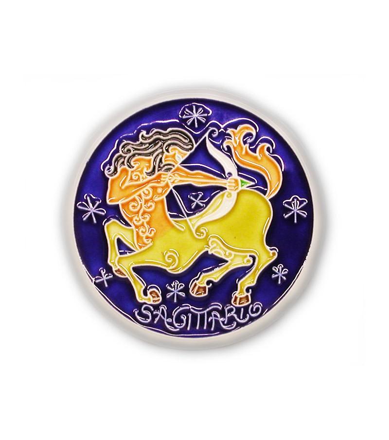 Segno Zodiacale Sagittario su Piastrella di Ceramica