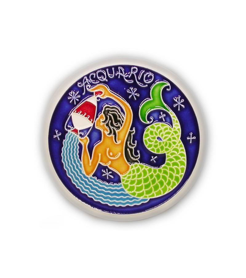 Acquarius Zodiac Sign on Ceramic Tile