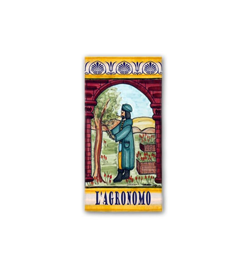 Piastrella in Ceramica Raffigurante l'Agronomo