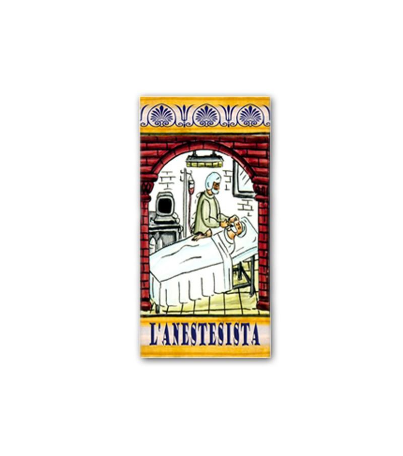 Piastrella in Ceramica Raffigurante l'Anestesista