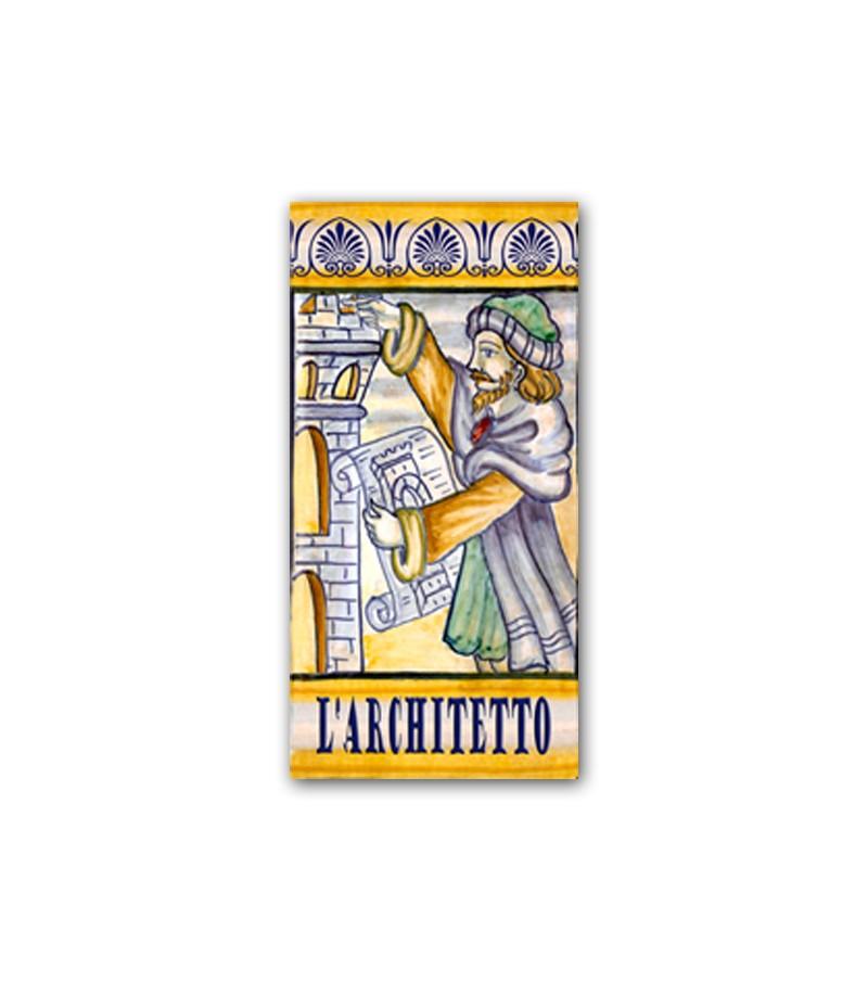 Piastrella in Ceramica Raffigurante l'Architetto