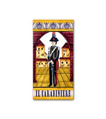 Piastrella in Ceramica Raffigurante il Carabiniere