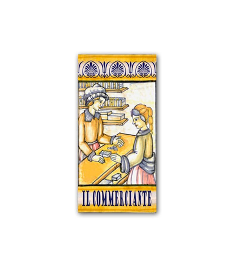 Piastrella in Ceramica Raffigurante il Commerciante