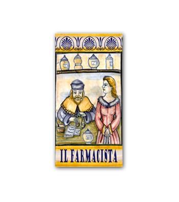 Piastrella in Ceramica Raffigurante il Farmacista