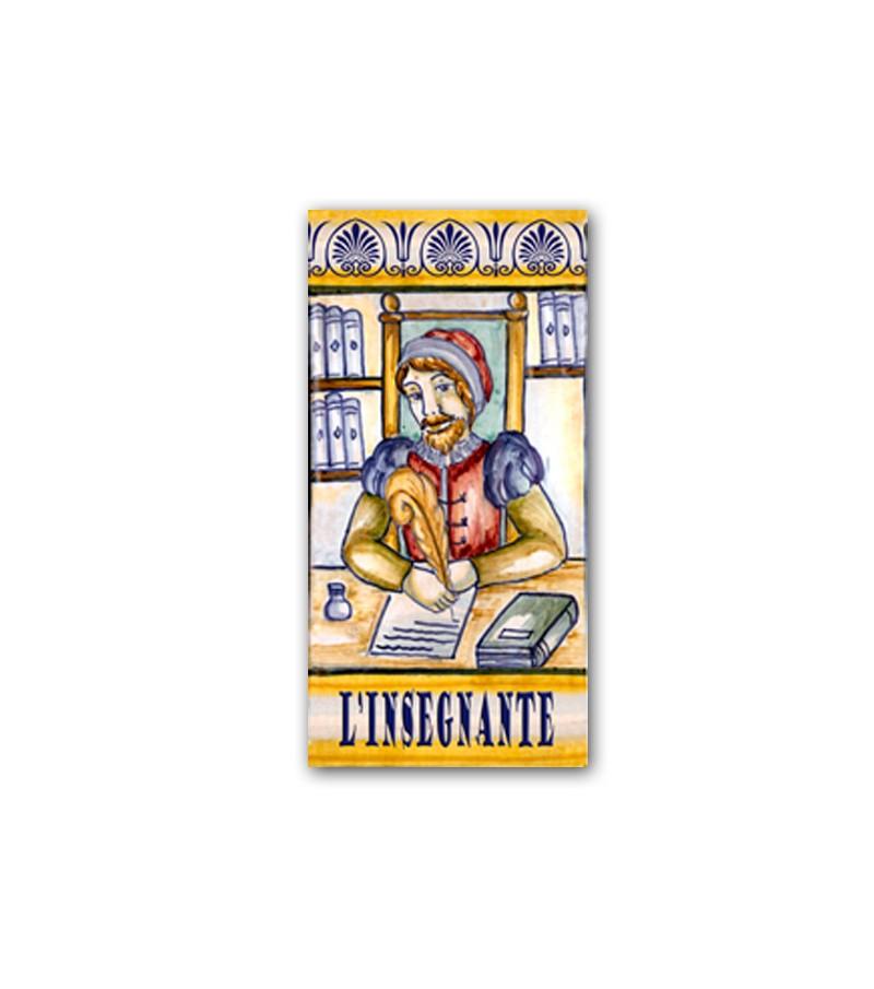 Piastrella in Ceramica Raffigurante l'Insegnante