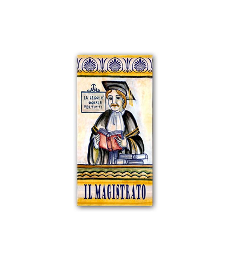 Piastrella in Ceramica Raffigurante il Magistrato