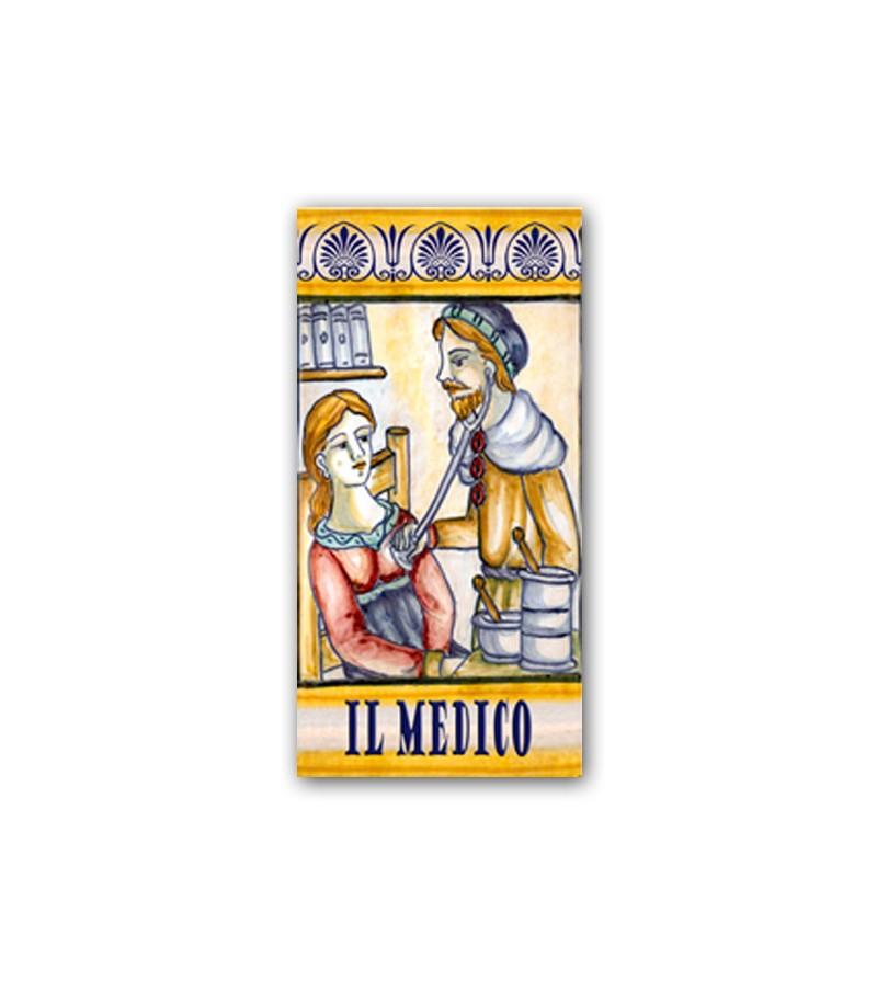 Piastrella in Ceramica Raffigurante il Medico