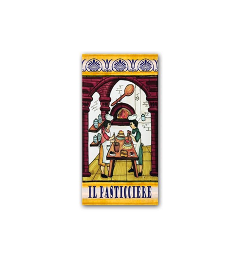 Piastrella in Ceramica Raffigurante il Pasticciere