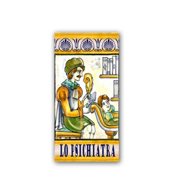Piastrella in Ceramica Raffigurante lo Psichiatra