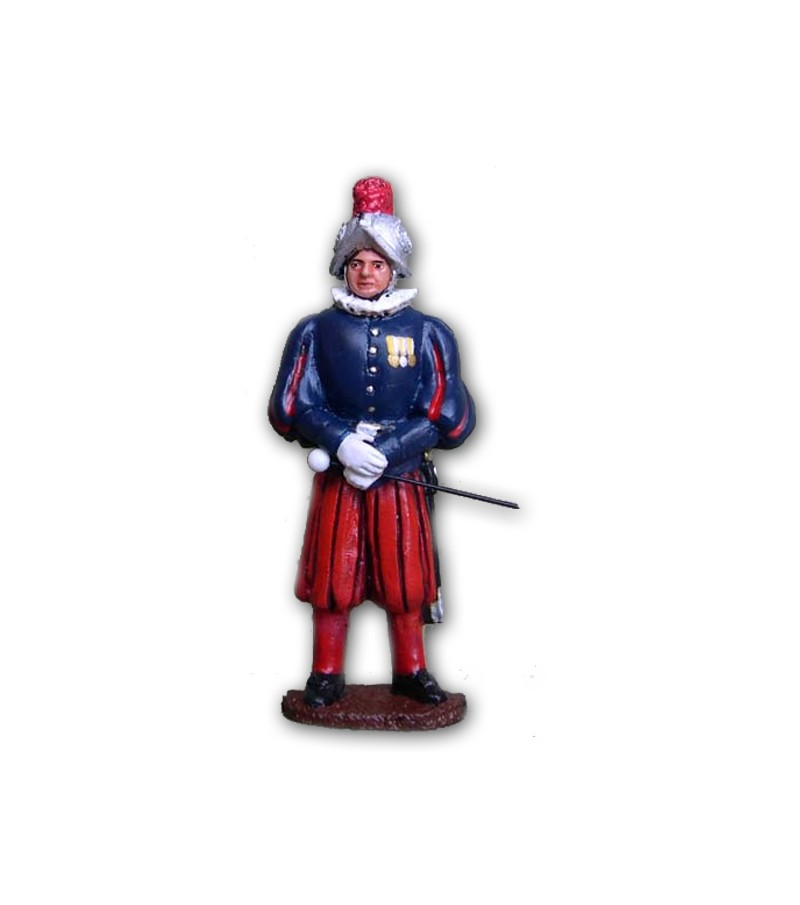 Swiss Guard soldier made in tin-based alloy