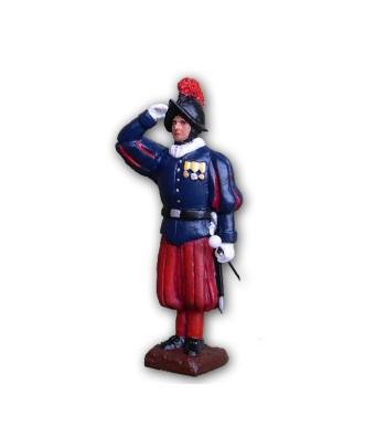 Soldatino Guardia Svizzera eseguito in lega a base di Stagno
