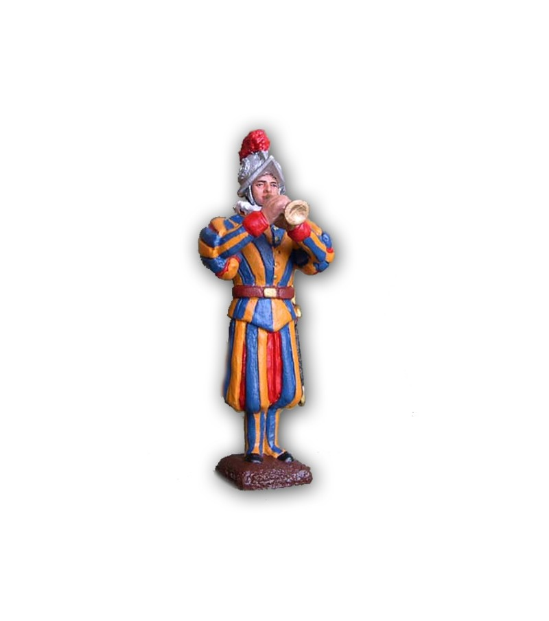 Musical Band Swiss Guard soldier made in tin-base