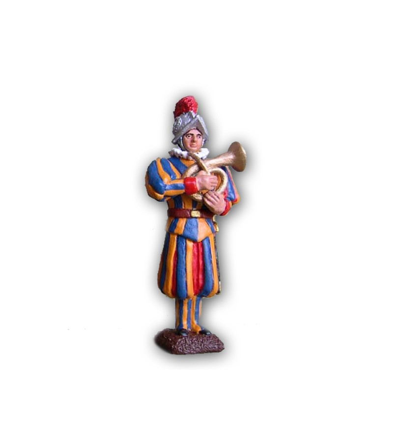 Musical Band Swiss Guard soldier made in tin-based alloy