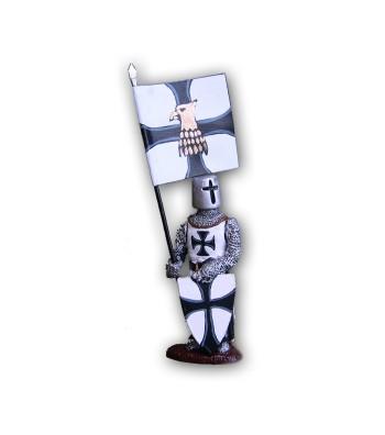 Soldatino medievale Teutonico eseguito in lega in base di stagno