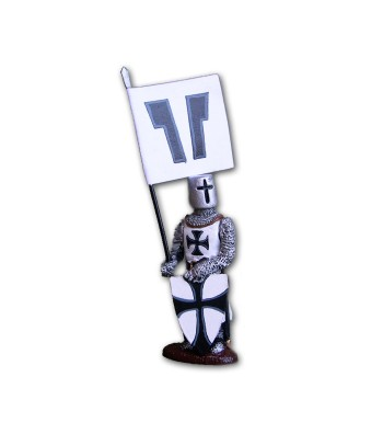 Medieval Teutonic soldier made in tin-based alloy