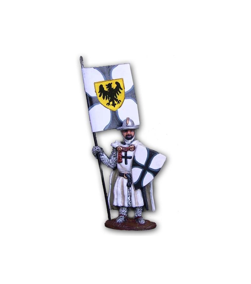 Soldatino Medievale Teutonico eseguito in lega a base di Stagno
