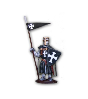 Medieval Ospitaliere soldier made in tin-based alloy