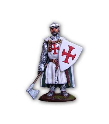 Soldatino Medioevale Templare eseguito in lega a base di Stagno