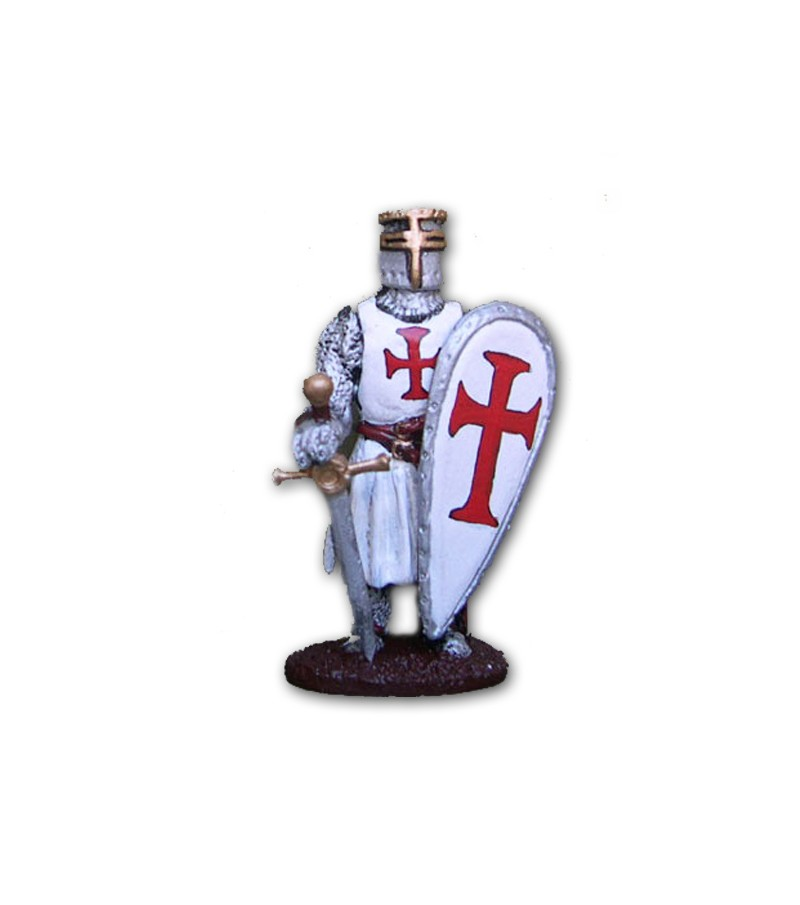 Medieval Templari soldier made in tin-based alloy