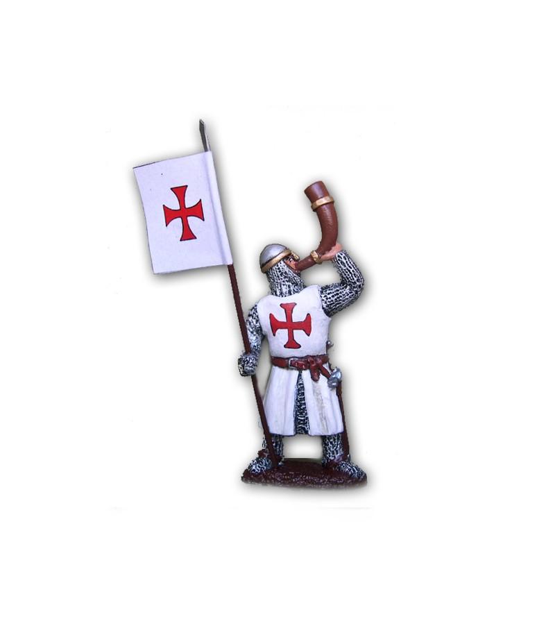 Soldatino Medioevale Templare eseguito in lega in base di stagno