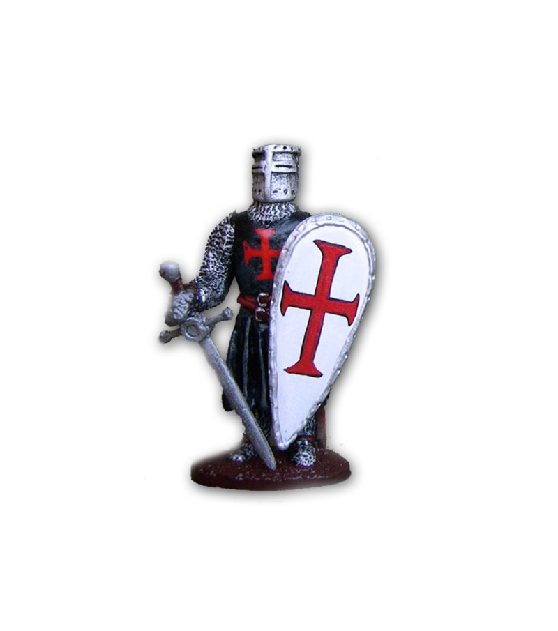 Knight Templar made in tin-based alloy