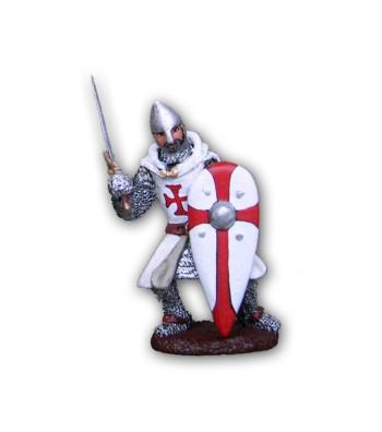 Soldatino Cavaliere Templare eseguito in lega in base di stagno