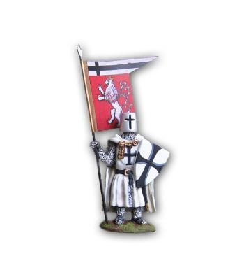 Soldatino Medioevale Teutonico eseguito in lega a base di Stagno.