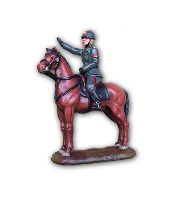 Mussolini on horseback made in tin-based alloy