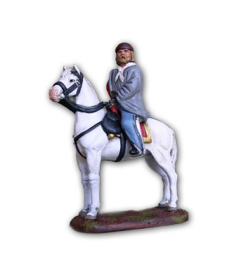 Garibaldi soldier on horse made in tin-based alloy