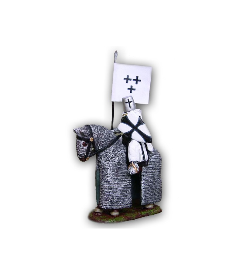 Teutonic soldier on horseback made in tin-based alloy