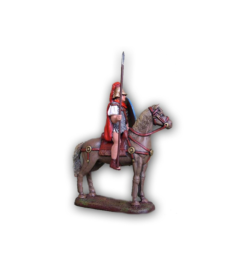 Roman soldier on horseback made in tin-based alloy