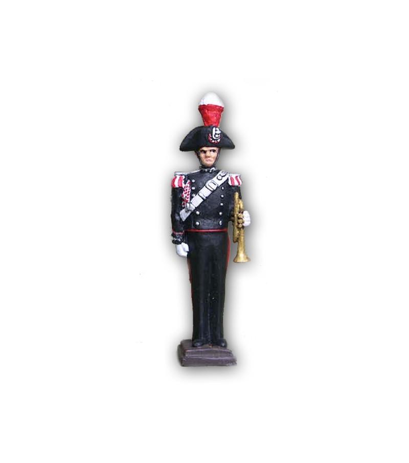 Soldatino Carabiniere Banda Musicale eseguito in lega a base di Stagno