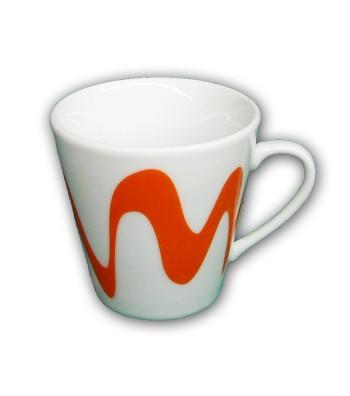 TAZZINA CAFFE' CON MANICO ARANCIONE