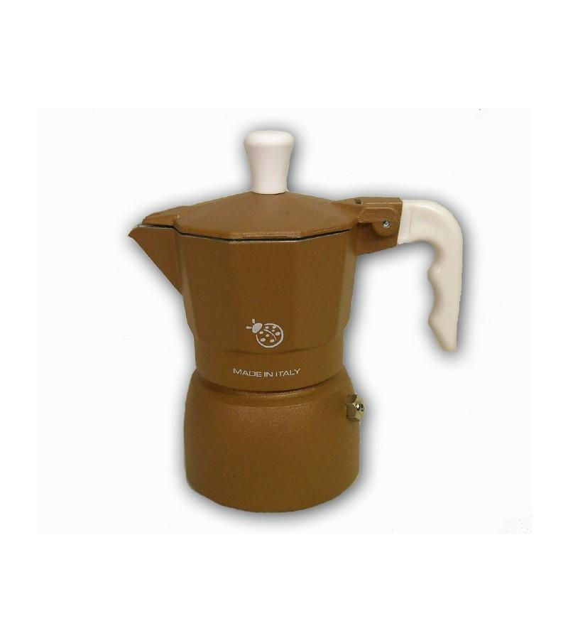 """Espresso coffee maker model """"Coccinella"""" brown color"""