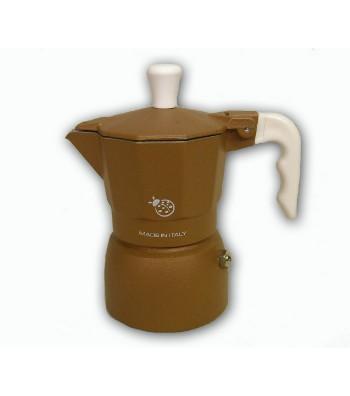 """Caffettiera Espresso modello """"Coccinella"""" colore marrone"""